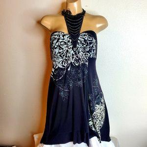 Free People high neck strapless mini dress S